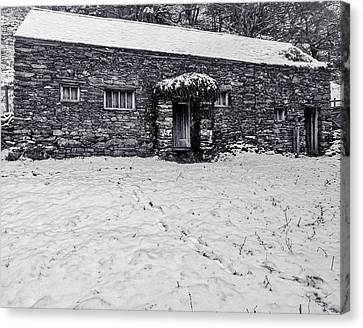 Shepherds Cottage Canvas Print by Keith Elliott