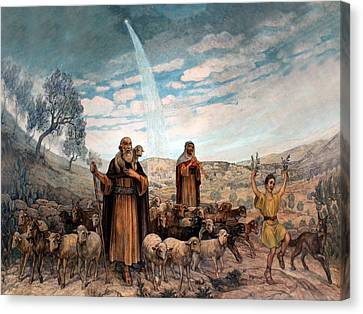 Shepherds Field Painting Canvas Print by Munir Alawi