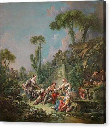 Shepherd's Idyll Canvas Print by Francois Boucher