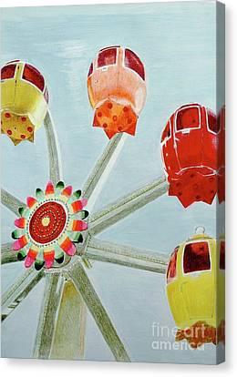 Sherbert Ferris Wheel Canvas Print by Glenda Zuckerman
