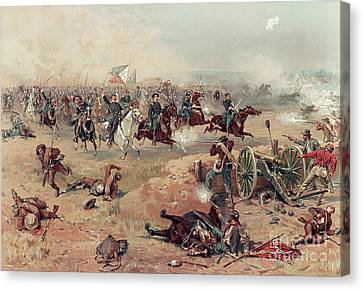 Sheridan's Final Charge At Winchester Canvas Print