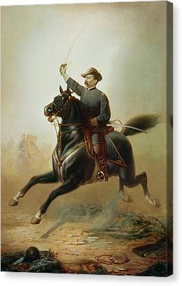Police Canvas Print - Sheridan's Ride by Thomas Buchanan Read