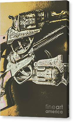 Sheriff Guns Canvas Print by Jorgo Photography - Wall Art Gallery