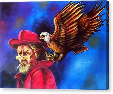 Sherlock Holmes Sharp As An Eagle Canvas Print by Arun Sivaprasad