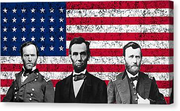Sherman - Lincoln - Grant Canvas Print by War Is Hell Store