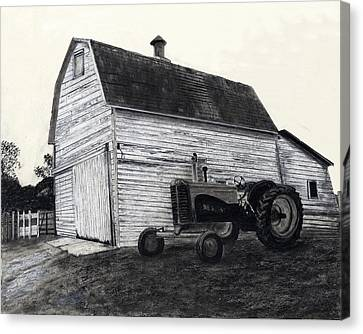 Sherry's Barn Canvas Print by Bryan Baumeister