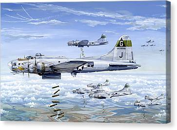 B17 Canvas Print - She's A Honey 1 by Charles Taylor