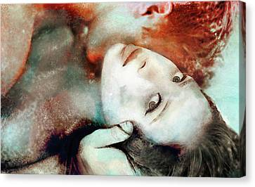 Obligatory Canvas Print - She's Not There by Erotic Imagery