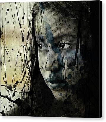 Canvas Print featuring the mixed media She's Out Of My Life  by Paul Lovering