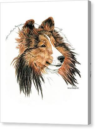 Shetland Sheepdog Canvas Print - Shetland Sheepdog, Sheltie Sable by Kathleen Sepulveda