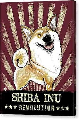 Canvas Print - Shiba Inu Revolution by John LaFree