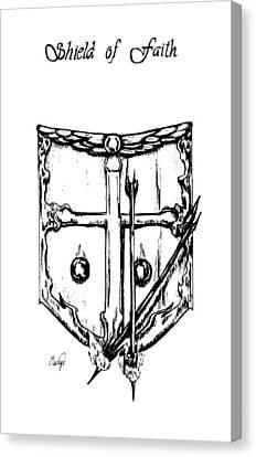 Shield Of Faith Canvas Print by Maryn Crawford