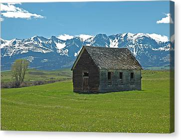 Abandoned Canvas Print - Shields Valley Abandoned Farm Ranch House by Bruce Gourley