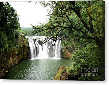 Shifen Waterfall  Canvas Print by Hanza Turgul
