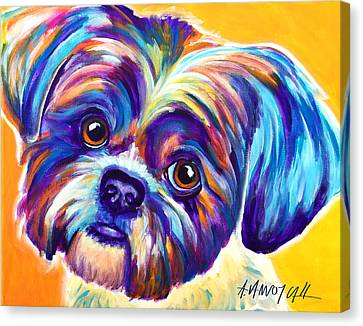 Shih Tzu - Dreamy Canvas Print by Alicia VanNoy Call