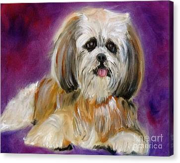 Shih-tzu Puppy Canvas Print by Jenny Lee