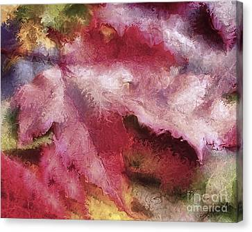 Shimmering Leaves Canvas Print by Marilyn Sholin