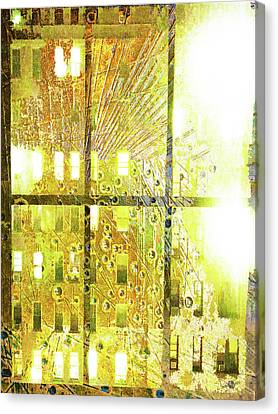 Canvas Print featuring the mixed media Shine A Light by Tony Rubino