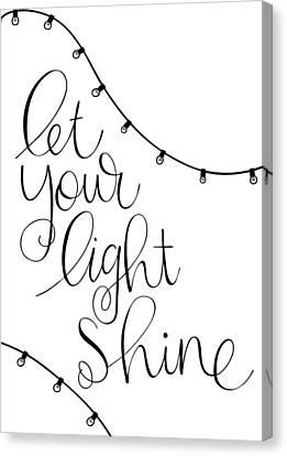 Shine Canvas Print by Nancy Ingersoll