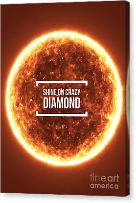 Shine On Crazy Diamond Canvas Print by Edward Fielding
