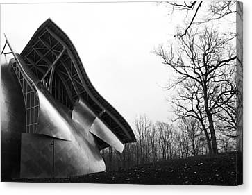 Shine On Gehry At Bard College New York State Canvas Print by Jane McDougall