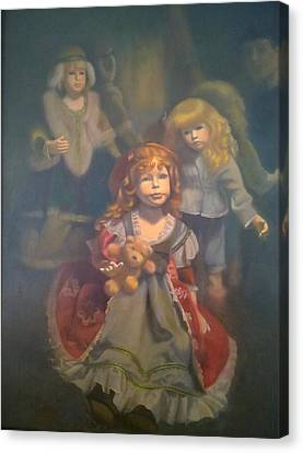 Fantasy Realistic Still Life Canvas Print - Shine With The Light Of Jesus by Weiyu Xia