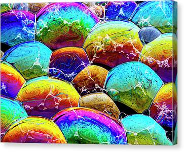 Canvas Print featuring the photograph Shiney Bubbles by Jean Noren
