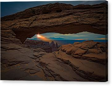 Shining Down On Mesa Arch Canvas Print by Rick Berk