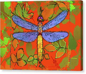 Shining Dragonfly Canvas Print