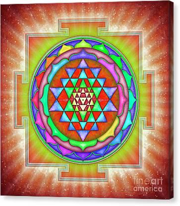 Shining Sri Yantra Mandala II Canvas Print by Dirk Czarnota