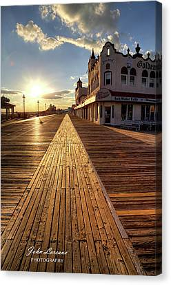 Shining Walkway Canvas Print