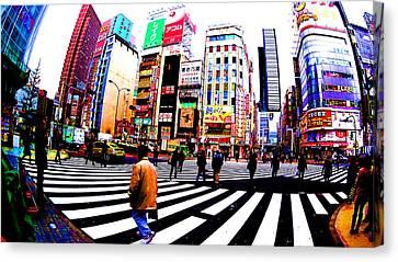 Shinjuku Tokyo Canvas Print by Jera Sky