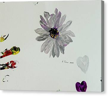 Shiny Flower Canvas Print by Andrea Sims