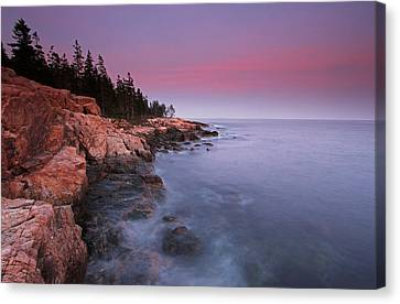 Ship Harbor Sunset In Maine Acadia National Park Canvas Print by Juergen Roth