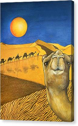 Ship Of The Desert Canvas Print by Robert Lacy