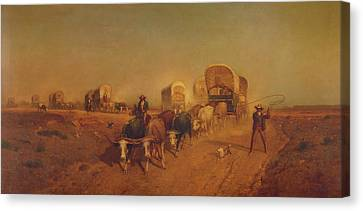 Conestoga Canvas Print - Ship Of The Plains by Mountain Dreams
