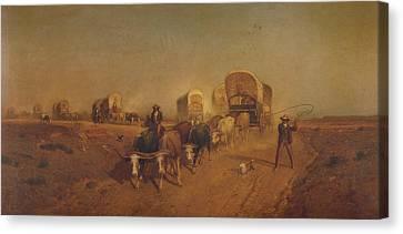 Ship Of The Plains Canvas Print