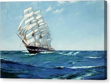 Ship Waimate Canvas Print by Montague Dawson