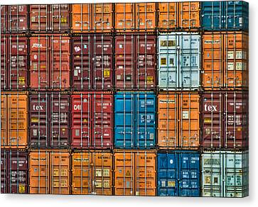 Shipping Containers Canvas Print