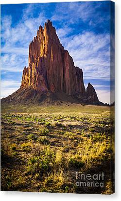 Sacred Canvas Print - Shiprock by Inge Johnsson