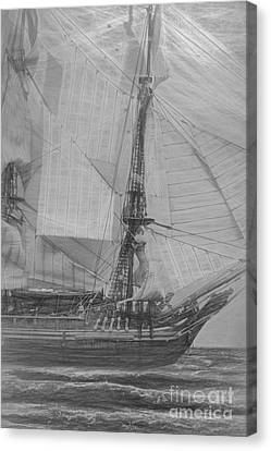 Ships And Sea Exploration Canvas Print