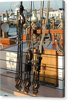 Ship's Rigging Canvas Print by Nancy Taylor