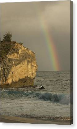 Shipwreck Beach Rainbow Canvas Print by Bonita Hensley