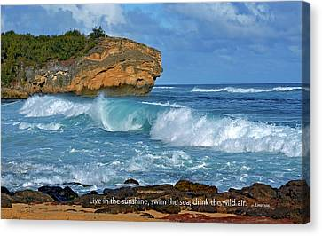 Shipwreck Beach Shorebreaks 2 Canvas Print