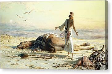 Shipwreck In The Desert Canvas Print