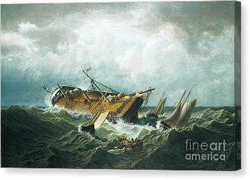 Shipwreck Off Nantucket Canvas Print by MotionAge Designs