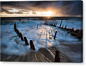 Shipwrecked Canvas Print by Mel Brackstone
