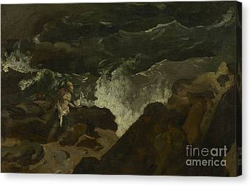 Pitching Canvas Print - Shipwrecked On A Beach by Theodore Gericault