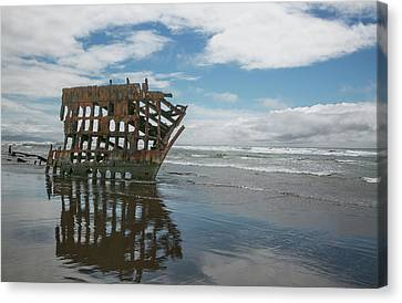 Canvas Print featuring the photograph Shipwreck by Elvira Butler