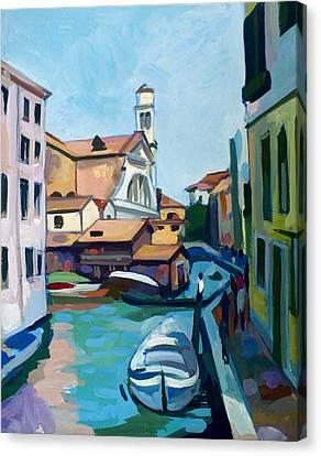 Impressionist Canvas Print - Shipyard In Venice by Filip Mihail